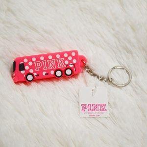 Victorias Secret Pink Bus keychain